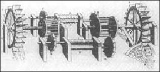 Зубчатые передачи для машины прокатки листового металла