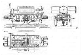 Зубчатая передача для первого электрического локомотива
